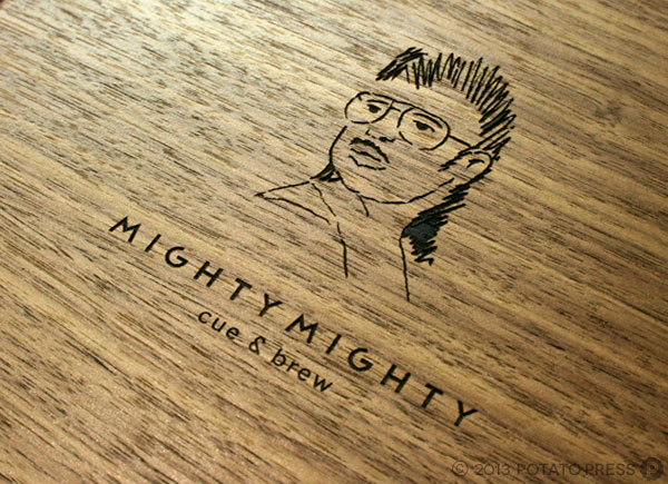 Mighty-Mighty-laser-etched-timber-menus-walnut-veneer-potato-press-gold-coast
