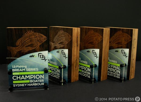 13 Fishing Competition Trophies Potato Press