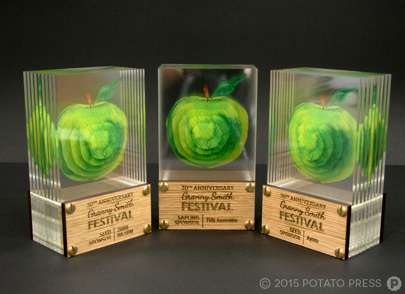 Grannysmith-apples-trophy-set-acrylic-glass-3d-custom-bespoke-laser-etch-australia-international