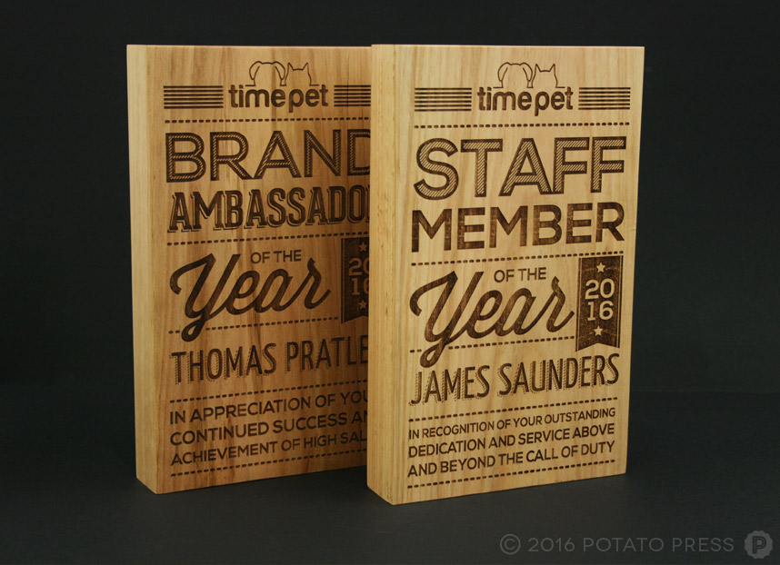 potato-press-timepet-wooden-trophy-award-laser-etch-bold-fun-typography
