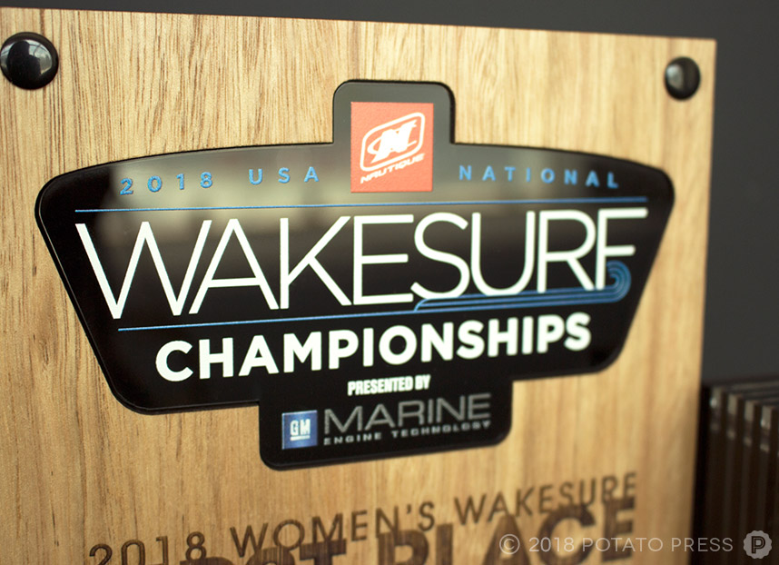 nautique custom timber acrylic award trophy